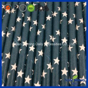 Birthday Party Decoration Dark Blue Star Pattern Paper Straw pictures & photos