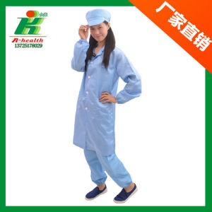 Antistatic Cleanroom Work Stripe Straight Collar Smock pictures & photos