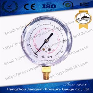 80mm 3.8MPa Refrigeration Pressure Gauge-R410A pictures & photos