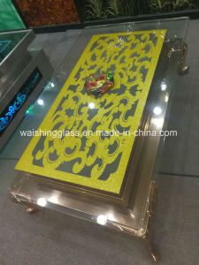 China Supplier Oval Glass Coffee Table pictures & photos