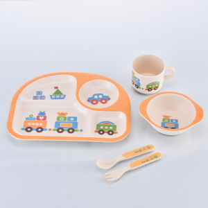 Eco-Friendly Bamboo Fiber Kids Dinnerware Sets (YK-BS1008) pictures & photos