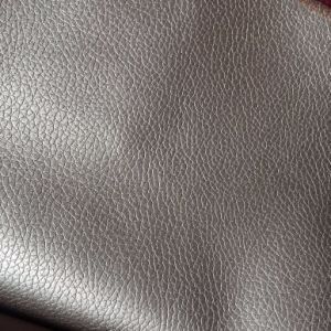2.0mm Thick Polyester Backing PU Leather for Sofa Hx-F1704 pictures & photos