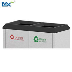 Large Stainless Steel Sorted Street Garbage Bin pictures & photos