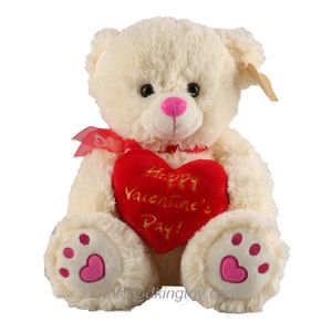 Wholesale Teddy Bear Happy Valentine′s Day Gift Plush Toy with Red Heart pictures & photos