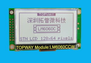"128X64 2"" Graphic LCD Display Cog Type LCD Module (LM6060C) pictures & photos"