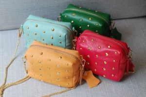 Fashion Cow Leather Ladies Cross Body Messenger Shoulder Bag (H505)