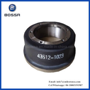 Manufacturer for Truck Brake Drum 43512-1023 for Hino, Scania, Mann, Iveco pictures & photos