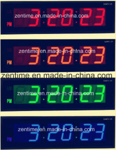 Colorful Digital LED Big Wall Clock pictures & photos
