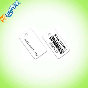 Full Color Printing PVC Keychain Card with Different Type Barcodes pictures & photos