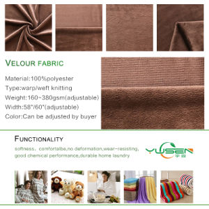 Super Soft Velour Brushed Knit Fabric for Home Textile pictures & photos
