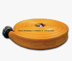 Red Color Fire Hose with BS Coupling pictures & photos