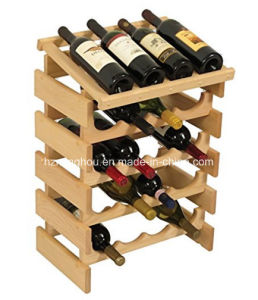 Practical 20 Bottle Wooden Wine Rack Wine Storage Rack for Home pictures & photos