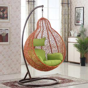 Oqo Outdoor Rattan Swing Egg Chair / Garden Swing Metal Outdoor Patio  Furniture / Outdoor Egg Chair (D028)