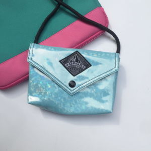 Flash Patterns PU Light Blue Leisure Bag (M009-13) pictures & photos