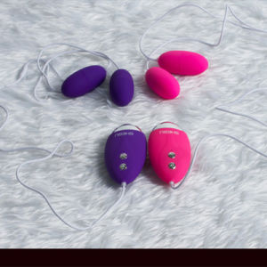 Double Eggs Masturbation Vibration Love Sex Toy for Ladies pictures & photos
