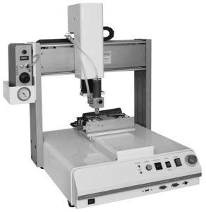 Desktop Hot Melt Gluing Machine for PCB pictures & photos