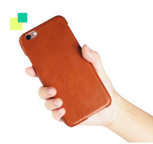 Luxury Handmade Custom Logo Genuine Italian Leather Phone Case for I Phone6 pictures & photos