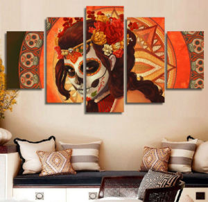 HD Printed Day of The Dead Face Group Painting Room Decor Print Poster Picture Canvas Home Decoration Wall Art F-979 pictures & photos