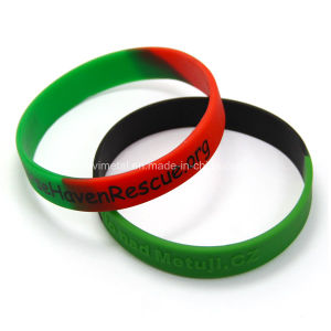Bulk Cheap Custom Color Changing Silicone Wristband pictures & photos