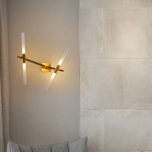 Bedroom Fashion Modern Tree Fork LED Reading Sconce Lights Wall Lamp in Gold Finished pictures & photos