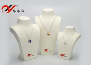 Resin Struction White PU Leather Jewellery Neck Stands pictures & photos