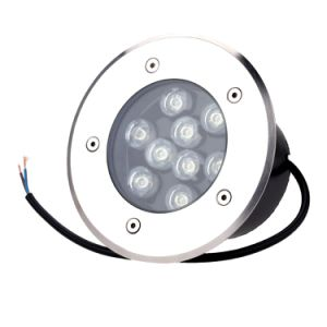 Stainless Steel Round Recessed Underground LED Pave Light Inground Lamp 9W Outdoor (Warm White, Cool White, Red, Green, Blue, Yellow, RGB Color) pictures & photos