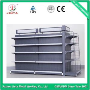 Economical Double Sided Cosmetic Product Display Shelf pictures & photos