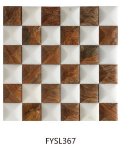300*300mm Marble Mosaic Bathroom Wall and Floor Tile (FYSL377) pictures & photos