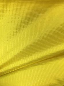 340t 0.35 Ripstop Check Nylon Taffeta Shiny Double Line Taffeta Fabric for Jacket pictures & photos