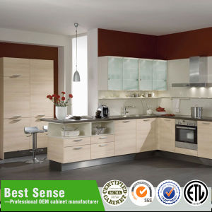 Modern Design Melamine Door Finishing Kitchen Cabinet with Flat Edge pictures & photos