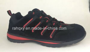 Black Suede Cemented Safety Shoes (HQH064) pictures & photos