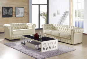 S073 Italian Design Leather Chesterfield Sofa pictures & photos