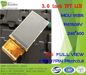 """3.0"""" IPS 240*400 MCU 16bit 37pin ODM Full View TFT LCD Resistive Touch Screen pictures & photos"""