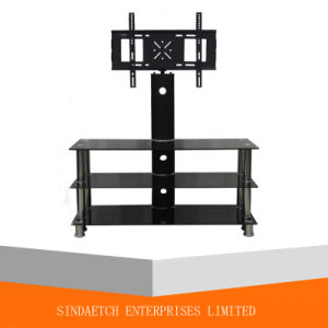 3-Shelf Tempered Glass TV Stand pictures & photos