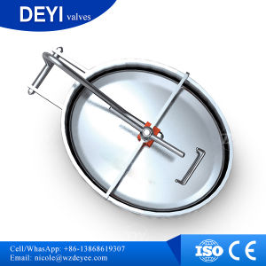 China Stainless Steel Sanitary Pressure Access Manway pictures & photos