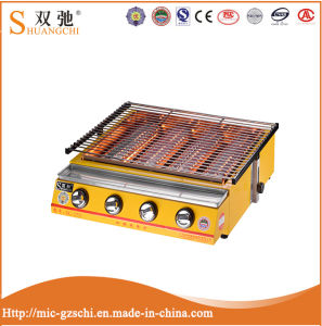High Quality Commercial Outdoo Four Head BBQ Gas Grill pictures & photos