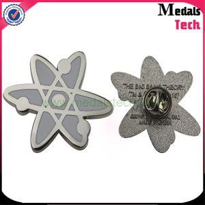 Fujiyama Logo Wholesale Custom Metal Printing Logo Flower Lapel Pin pictures & photos