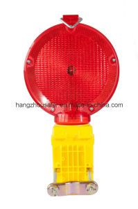 Red Solar Safety Road Traffic Light/ Solar Light (S-1310) pictures & photos