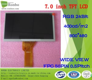 """Original Innolux At070tn94 7"""" 800X480 RGB 50pin 400CD/M2 LCD Panel pictures & photos"""