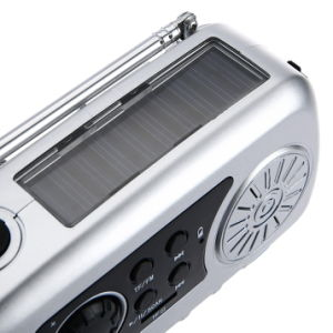 Camping Light with Solar Hand Crank FM Radio MP3 Player pictures & photos
