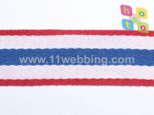 Striped Polyester Webbing Jacquard Tape for Garment Accessories pictures & photos