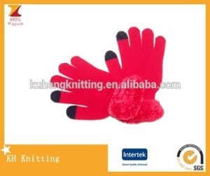 New Arrival Fur on Wrist Touch Gloves pictures & photos