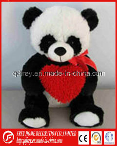 Soft Panda Toy with Heart for Valentine′s Day