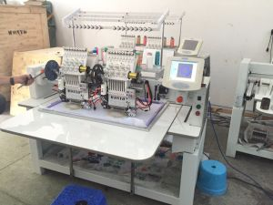 2 Heads Hot Sale Taping Cap Tshirt Flat Mixed Embroidery Machine Wy902c/1202c pictures & photos