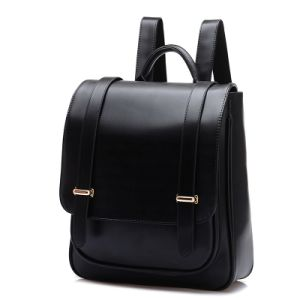 Popular Wholesale Vintage Leather College Rucksack Backpack pictures & photos