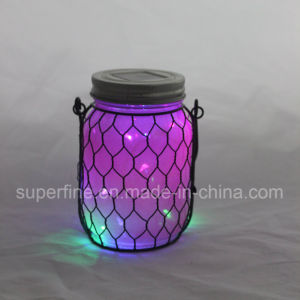 Outdoor Garden Decoration Safe Metal Romantic Decoration LED Solar Glass Lighting pictures & photos