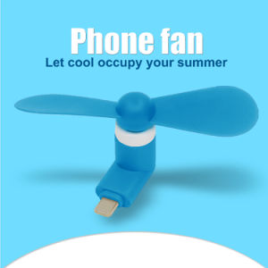 Promotion Gift USB Fan Flexible Portable Hand Mini Fan for OTG Smartphone iPhone Ios