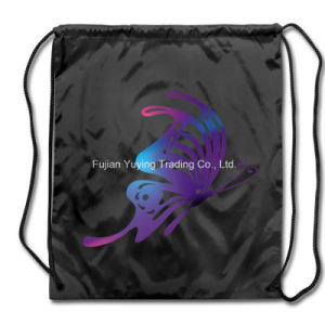 210d Black Polyester Nylon Drawstring Bag Backpack (YYDB036) pictures & photos