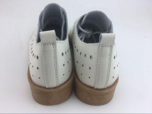 New Style Fashion Women Leather Shoes Lady British Style Shoes (FW-3) pictures & photos