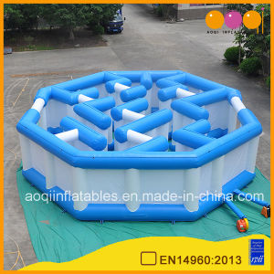 Blue and White Cheap Inflatable Labyrinth Kids Maze Game Toy (AQ16312) pictures & photos
